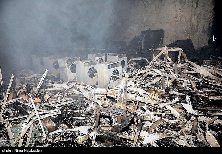 آتشسوزی کارخانه سیمان پاکدشت مهار شد