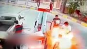جوان ورامینی در پمپ بنزین زنده زنده سوخت + فیلم