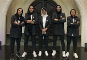 دخترانِ شیکپوش فوتبال ایران عازم تاشکند شدند +عکس