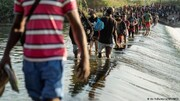 ۱۰ هزار مهاجر زیر یک پل در تگزاس نگهداری میشوند