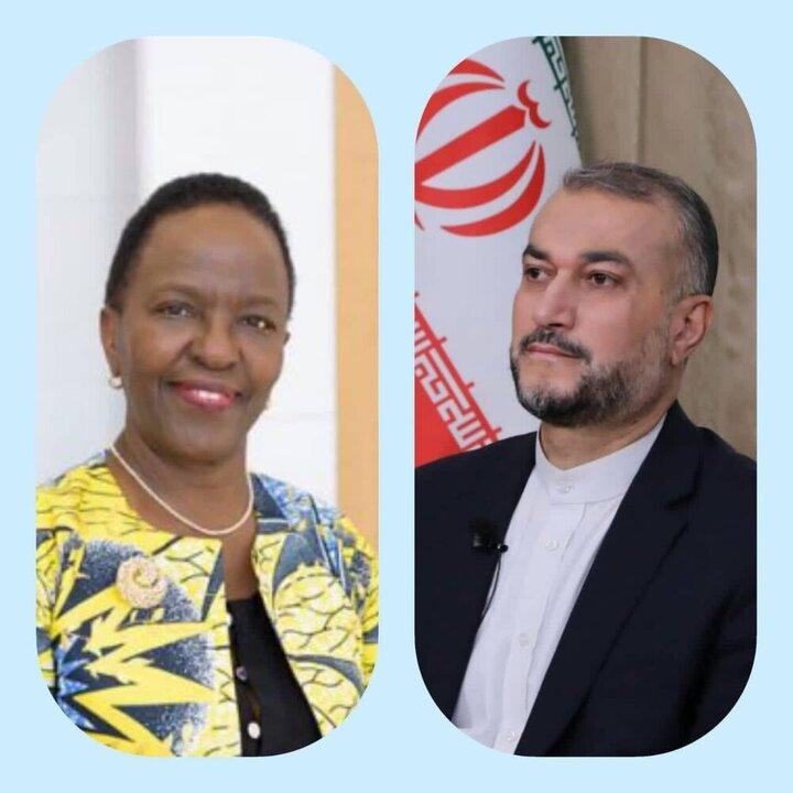 وزیر خارجه تانزانیا به امیرعبداللهیان تبریک گفت
