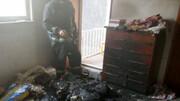 کودک ۷ ساله آتش به پا کرد