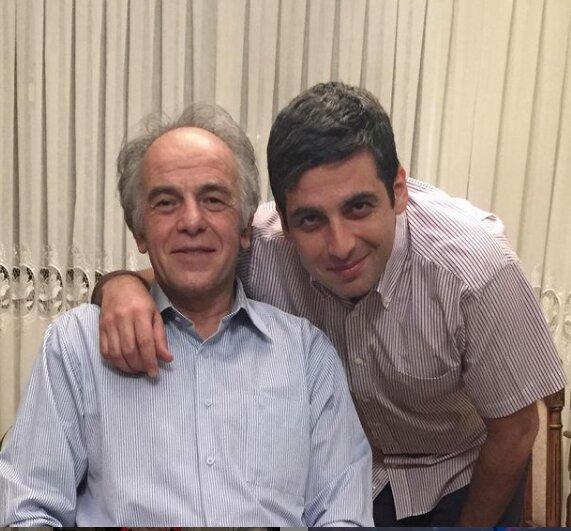 حمید گودرزی در کنار پدرش /عکس