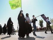 برگزاری پیاده روی جاماندگان اربعین حسینی در فیروزکوه از امامزاده اسماعیل (ع) تا میدان سپاه