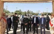 افتتاح فاز اول یادمان شهدای شهرستان پیشوا در محوطه سپاه