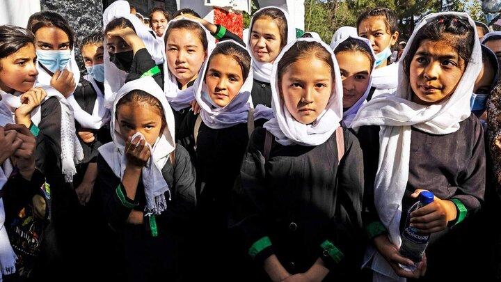 ممکن است دختران نوجوان در افغانستان هرگز اجازه تحصیل نداشته باشند! + فیلم