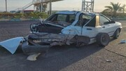 تصادف شدید اتوبوس و پراید جان ۷ نفر را به خطر انداخت