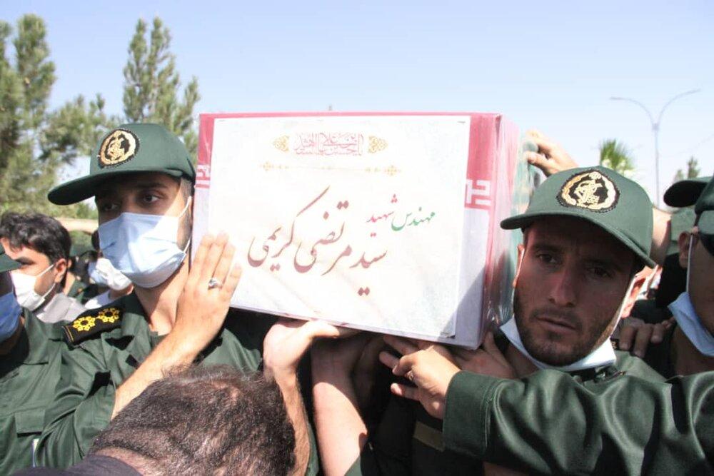 تشییع پیکر شهید سیدمرتضی کریمی در ملارد