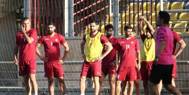 تمرین بازیکنان سرگردان پرسپولیس در تهران
