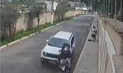 خودروی شاسی بلند سارقان را زیر گرفت + فیلم