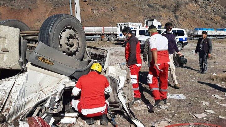 تصادف در محور سمنان-فیروزکوه ۲ کشته بر جای گذاشت