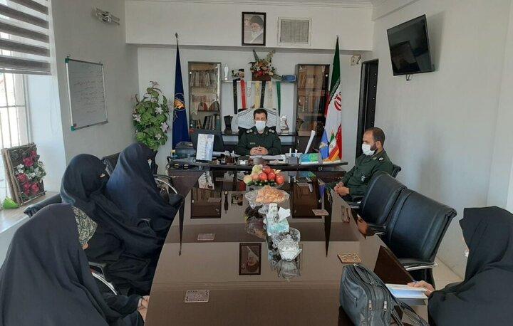 دیدار بانوان جهادی با فرمانده سپاه پاسداران پیشوا