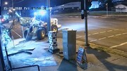 سرقت موتورسیکلت با لودر + فیلم تعقیب و گریز پلیس