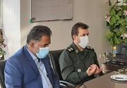 دیدار رئیس شورای شهرستان پیشوا با فرمانده سپاه