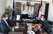 دیدار نماینده دیار پانزده خرداد با فرمانده جدید سپاه پیشوا