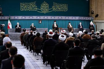صوت دیدار میهمانان کنفرانس وحدت اسلامی و جمعی از مسئولان نظام