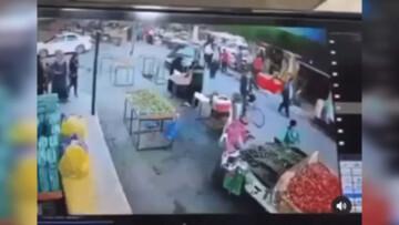 راننده زن چند نفر را در بازار زیر گرفت + فیلم