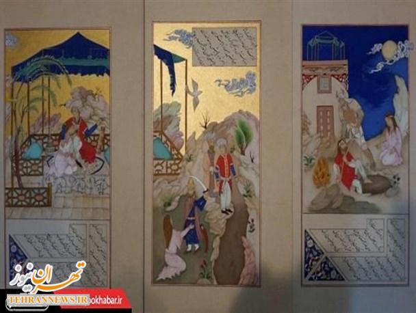 برگزاری نمایشگاه نگارگری دانشجویان دانشگاه پیام نور تهران شرق