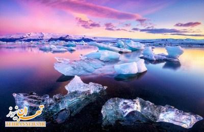 مناظر چشم نواز از موج و یخ