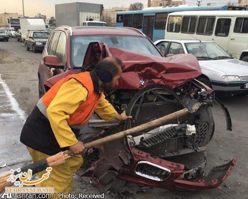 تصادف شدید BMW شاسی بلند در ایران + عکس