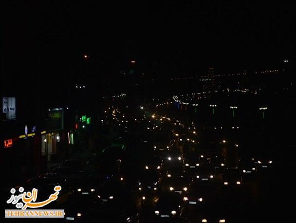 نمایی از ترافیک سنگین اسلامشهر + تصاویر