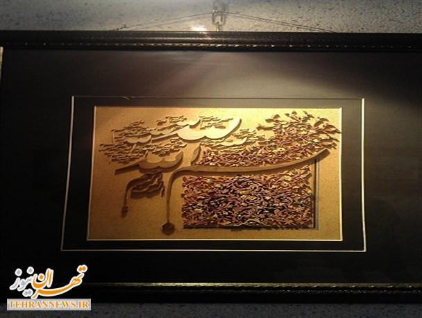 نمایشگاه معرق چوب و خوشنویسی در فیروزکوه افتتاح شد + تصاویر