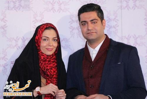 تصویر آزاده نامداری و همسرش در جشنواره فجر
