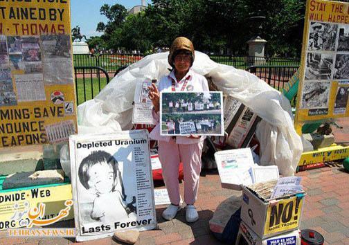 ۳۵ سال زندگی در چادر مسافرتی مقابل کاخ سفید + تصویر