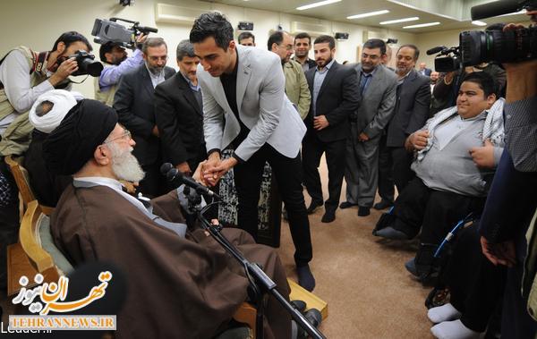 دیدار اعضای ستاد کنگره شهدای ورزش کشور با مقام معظم رهبری