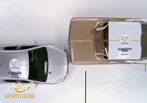 لحظه تصادف شدید دو خودروی گران قیمت شورولت + فیلم