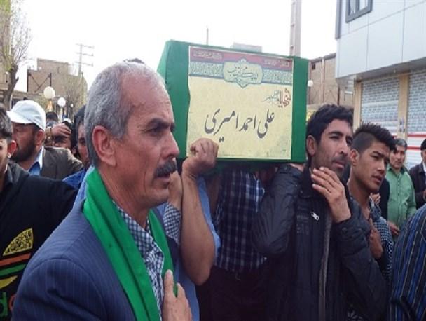 پیکر مطهر شهید مدافع حرم در بخش جلیل آباد پیشوا تشییع شد + تصاویر