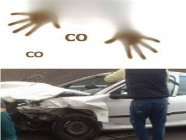 تصادف ۲ خودرو در محور هراز و زیرگذر مشاء ۹ مجروح برجای گذاشت/مرگ دو جوان بر اثر مسمومیت با گاز co در حوالی رودهن