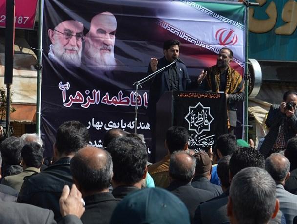 تجمع عاشورائیان فاطمیون در میدان آزادی شهر قدس