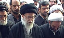 رهبر معظم انقلاب اسلامی بر پیکر مرحوم واعظ طبسی نماز میت اقامه کردند