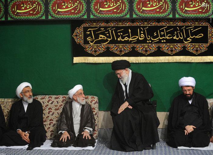 عکس/ سومین شب عزاداری فاطمیه در بیت رهبری