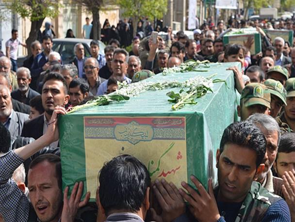 تشییع با شکوه پیکر مطهر چهار شهید گمنام تیپ فاطمیون در باقرشهر