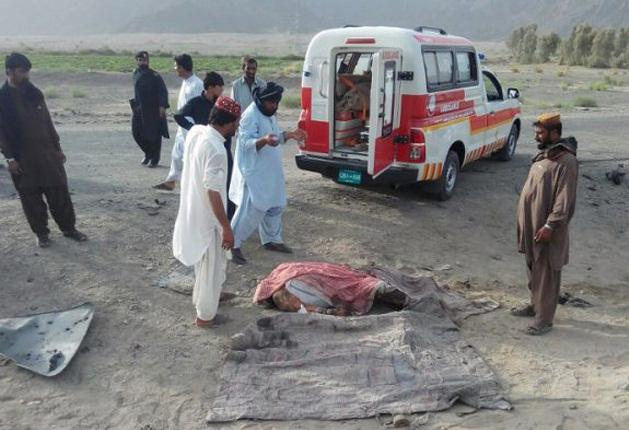 تصاویر/ صحنه ترور رهبر طالبان