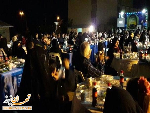 تجلیل از بیش از ۲۵ خیر در جشن ضیافت افطار هلال احمر دماوند