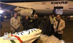 پیکر عباس کیارستمی شب گذشته به تهران رسید
