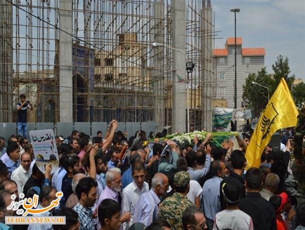 تصاویر/ تشییع پیکر مطهر شهید مدافع حرم«داود رضایی» در اسلامشهر