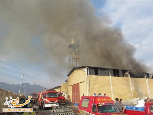 جزئیات بیشتر از آتش سوزی کارخانه دستمال کاغذی شهرک صنعتی فیروزکوه