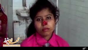 فیلم/ مرد هندی دماغ همسرش را کند!