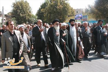 آیین عزاداری پیاده علما و مردم ورامین برگزار شد