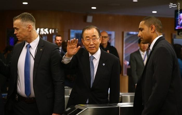 عکس/ خداحافظی بان کی مون با سازمان ملل
