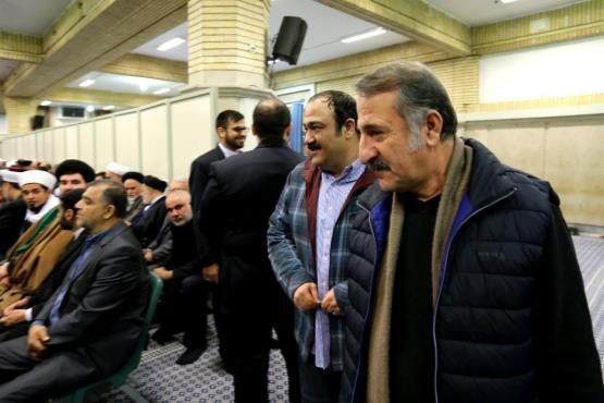 عکس/ مهران غفوریان و مهران رجبی در دیدار با رهبری