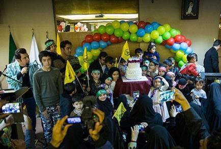 عکس/ جشن تولد کودکان شهدای مدافع حرم