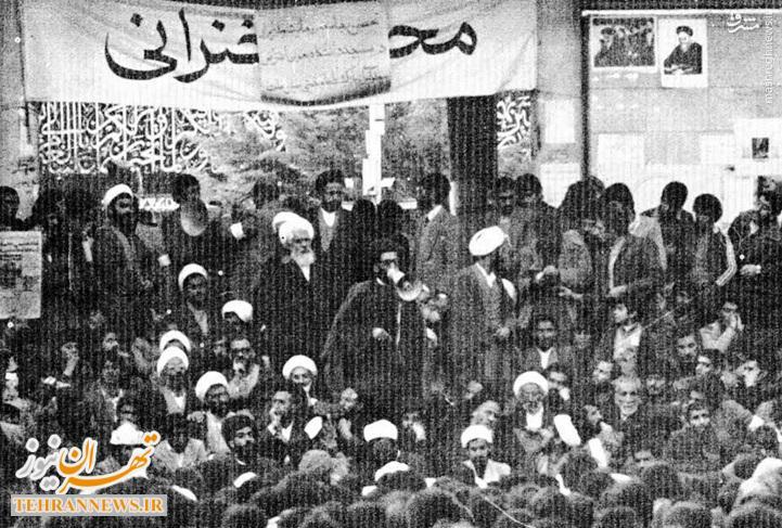تصاویر/ سخنرانی رهبر انقلاب در تحصن ۸ بهمن ۵۷