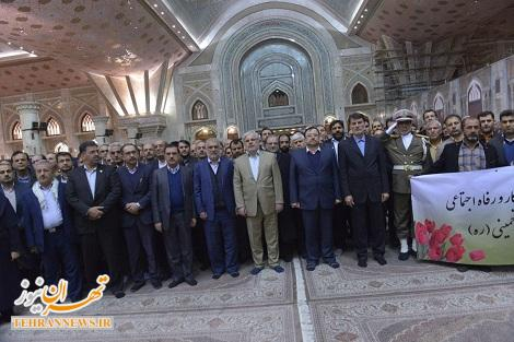 تجدید میثاق مسئولان وزارت کار، تعاون و رفاه اجتماعی با آرمانهای والای امام (ره)