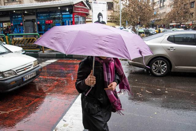 شدت بارشها در ۵ استان کشور/ لغزنده شدن جاده ها طی سه روز آینده