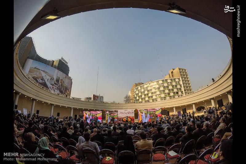 تصاویر/ افتتاح ایوان انتظار میدان ولیعصر(عج)